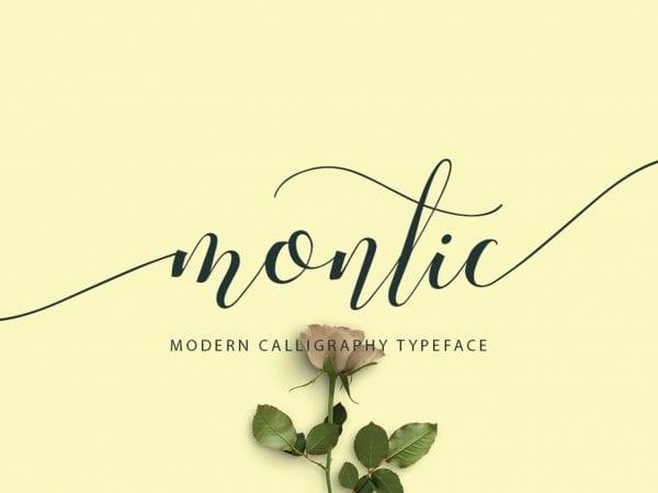 Montic Calligraphy Script Font