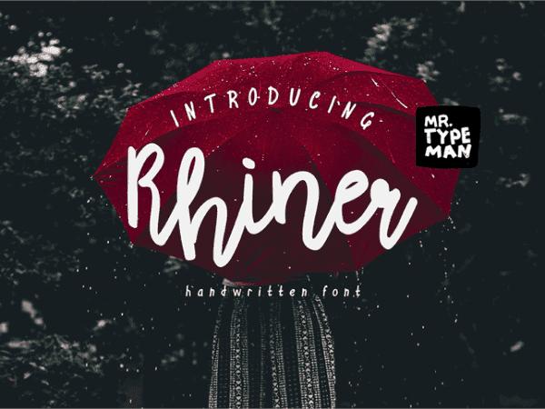 Rhiner Elegant Script Typeface