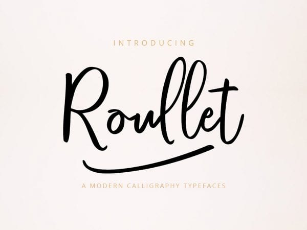Roullet - Gorgeous Calligraphy Script Font