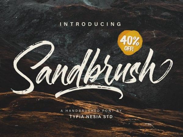 Sandbrush Handmade Brush Font