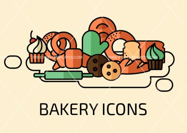 Set Of Free Bakery Icons