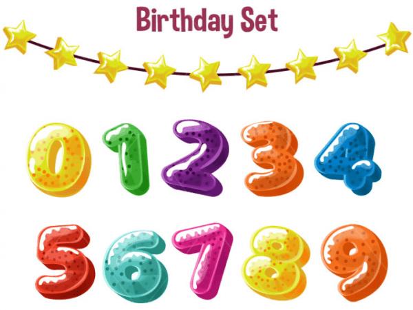 Set Of Free Birthday Design Elements