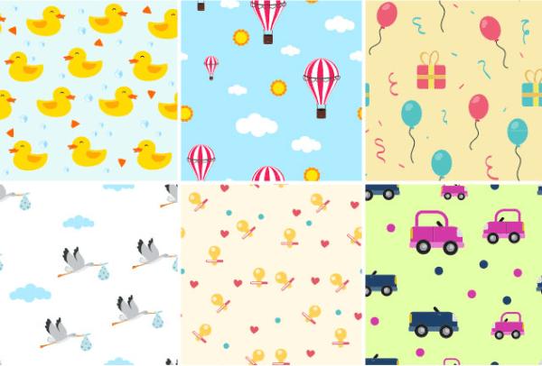 Set Of Free Children's Patterns