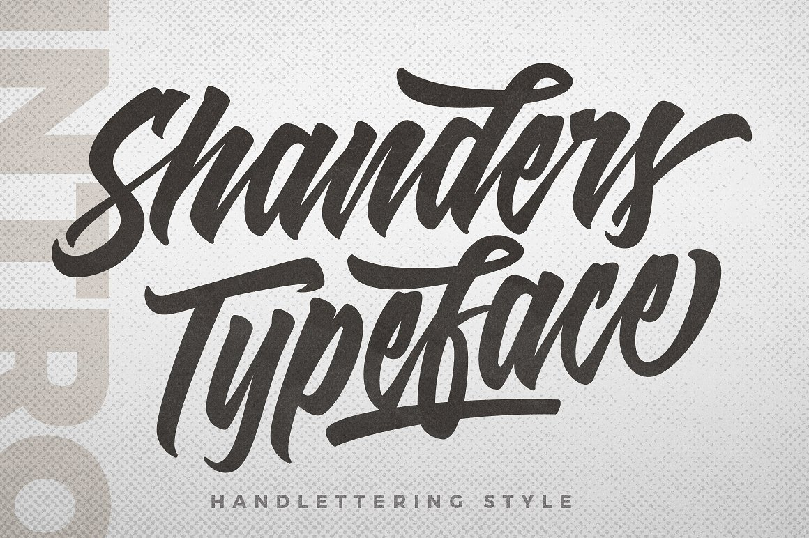 shanders hand lettering fonts