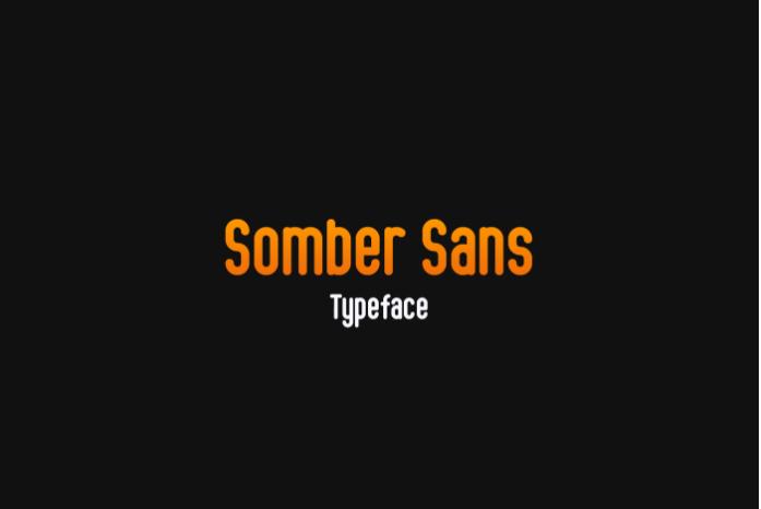 Somber Free Sans Serif Font