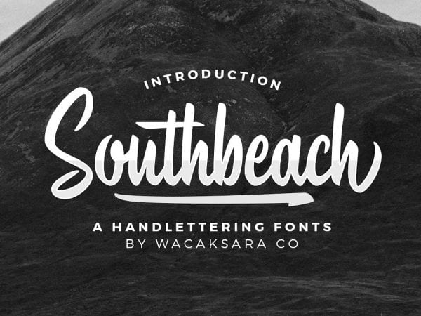 Southbeach Hand Lettering Brush Font 1