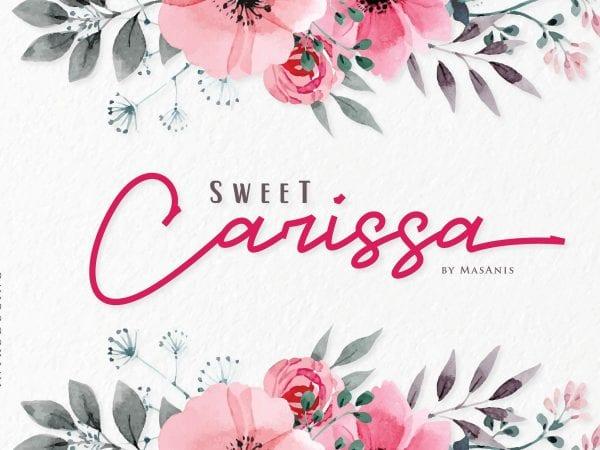 Sweet Carissa Signature Script Font
