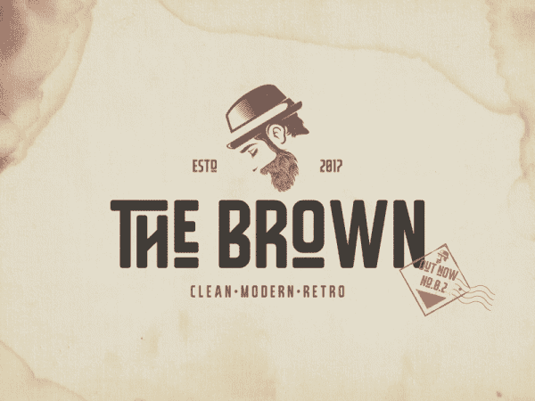 The Brown Modern Display Fonts