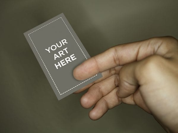 Free Vertical Business Card Mockup Template