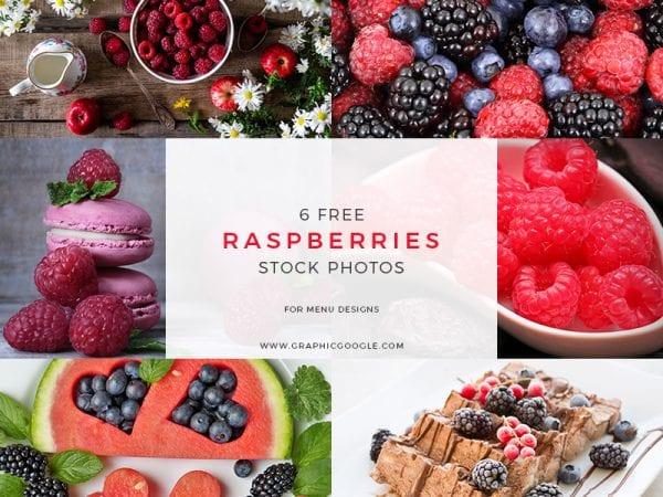 Set Of Raspberries Stock Photos