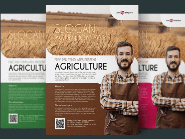 Agriculture Flyer PSD Template