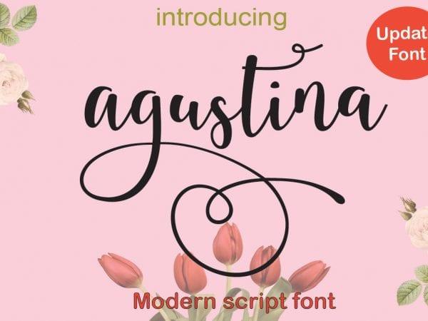 Agustina Calligraphy Script Font