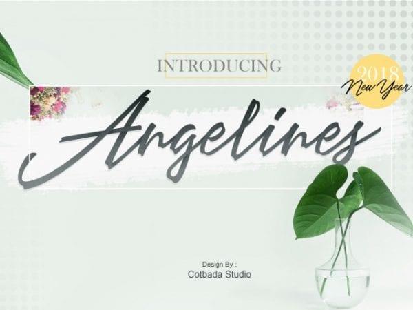 Angelines Calligraphy Script Font