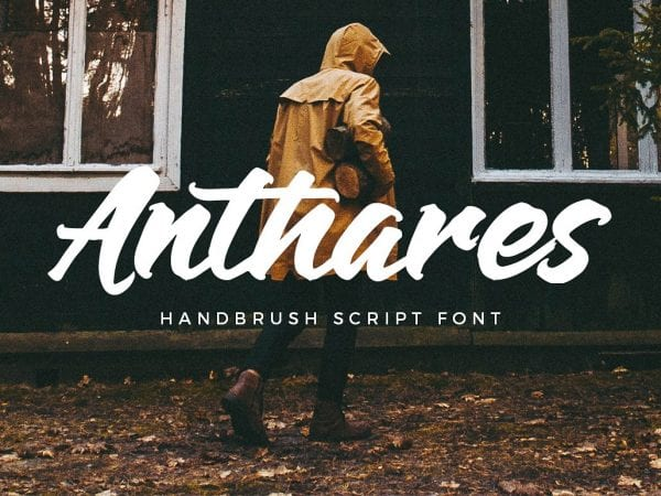 Anthares Free Hand Brush Font