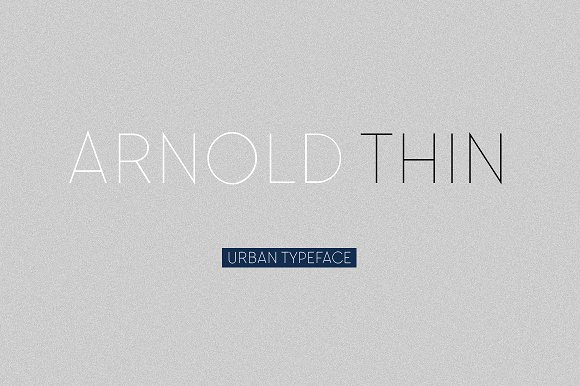 Arnold Free Thin Fonts