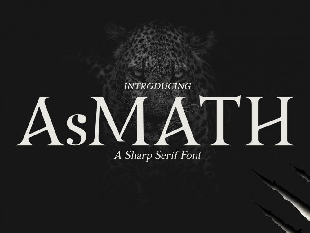 Asmath Free Sharp Serif Fonts