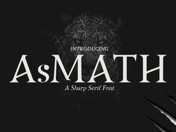 Asmath Free Sharp Serif Fonts