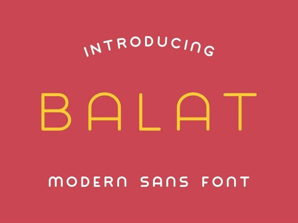 Balat Modern Sans Serif Typeface