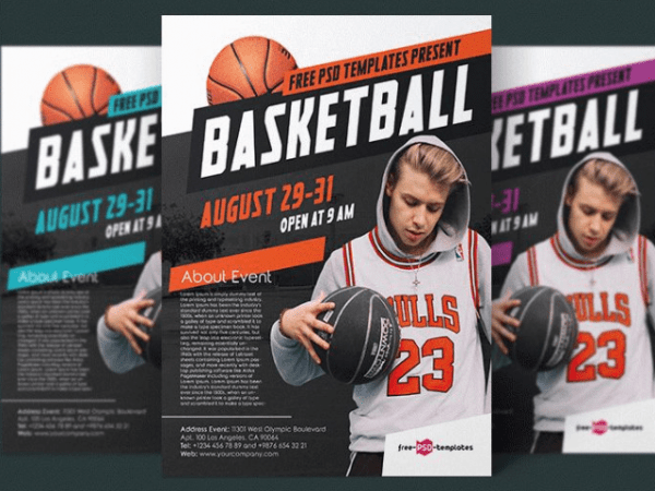 Basketball Flyer PSD Template