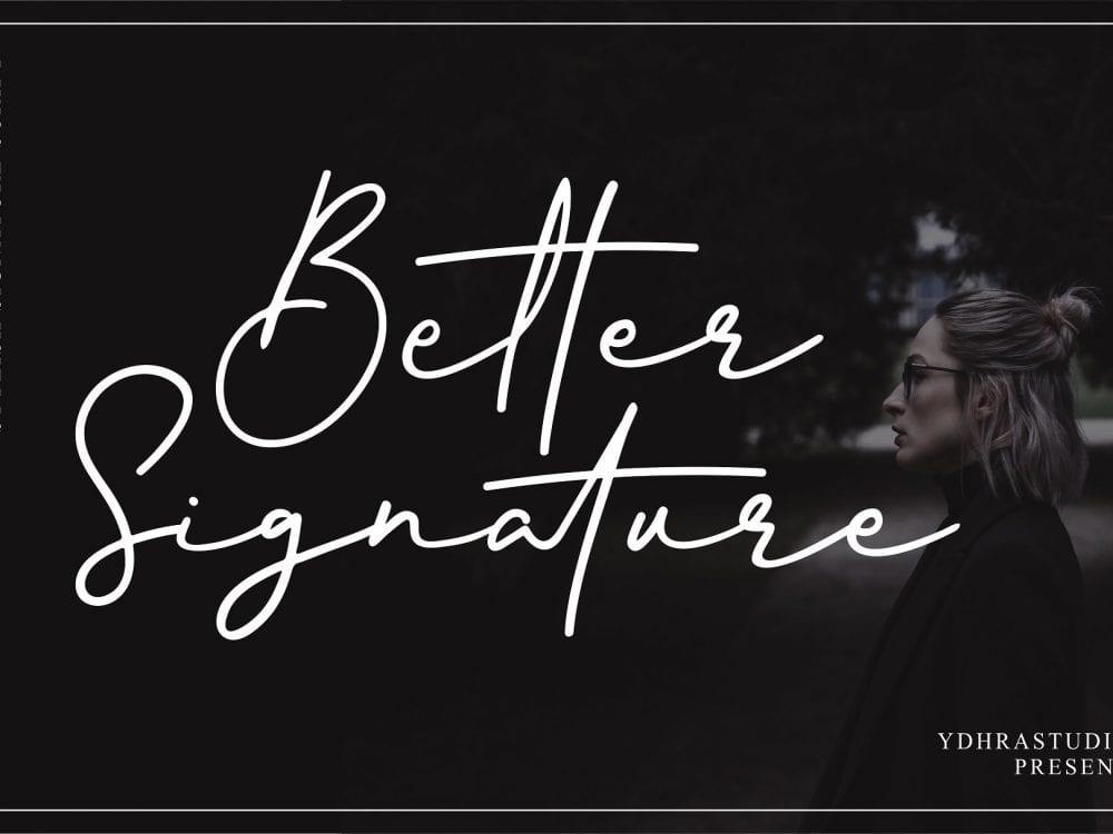 Better Signature Script Font