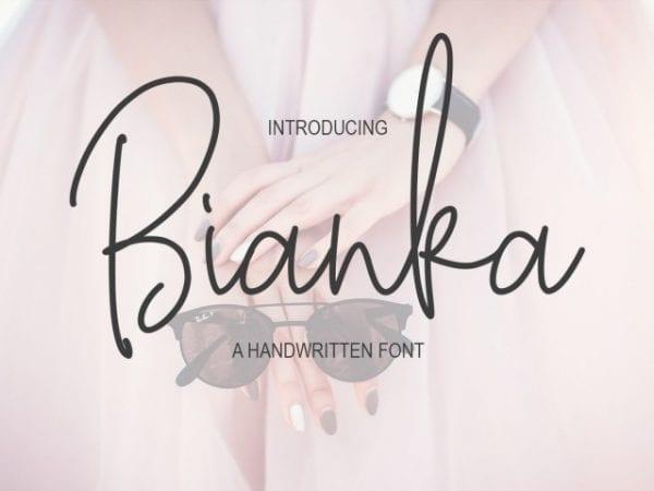 Bianka Handwritten Script Font