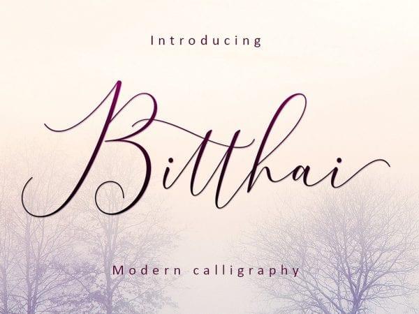 Bitthai Modern Calligraphy Font