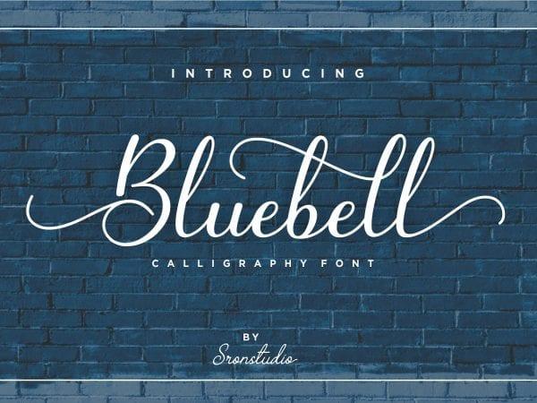 Bluebell Elegant Script Typeface