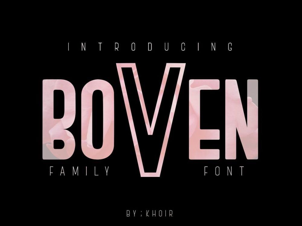 Boven Modern Display Fonts