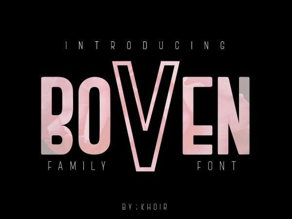 Boven Modern Display Fonts