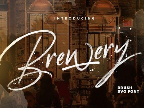 Brewery Free Brush Script Font
