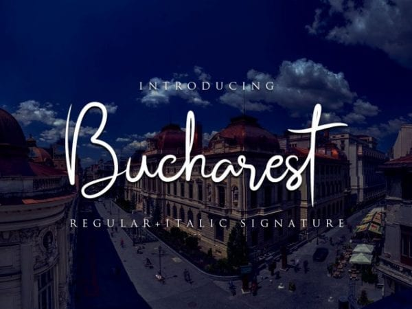 Bucharest Brush Script Typeface