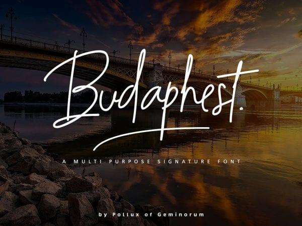 Budaphest Modern Signature Font