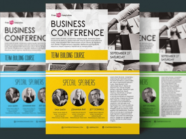 Business Conference Flyer PSD Template