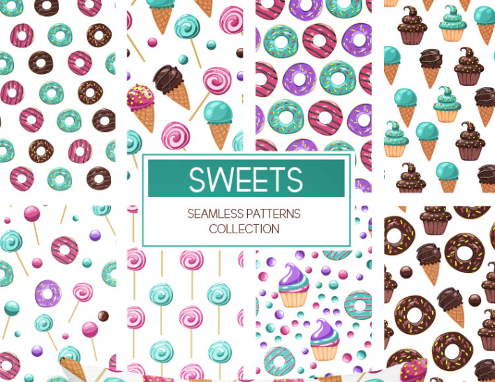 Collection Of Free Seamless Patterns - Mockup Free Downloads