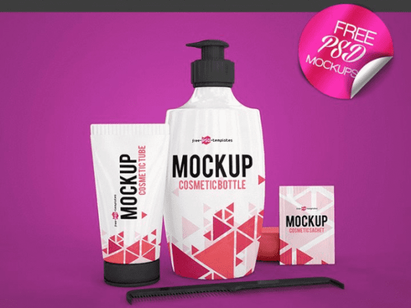 Cosmetic PSD MockUp Template