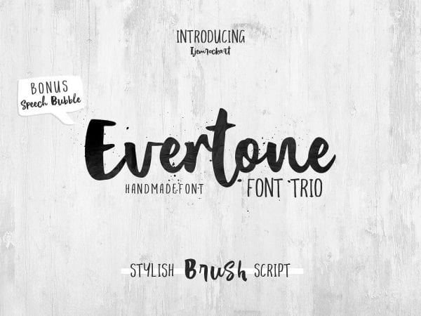Evertone Brush Script Typeface
