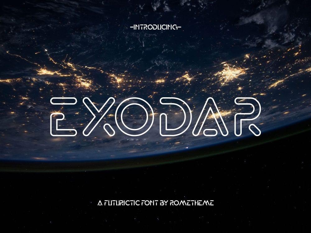 Exodar Free Futuristic Fonts