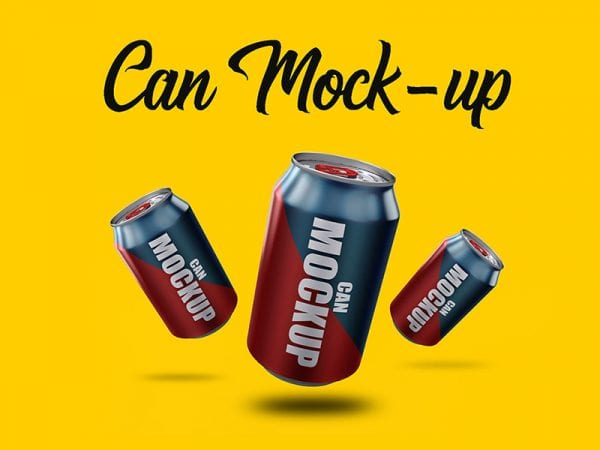 Free Can MockUp PSD Template