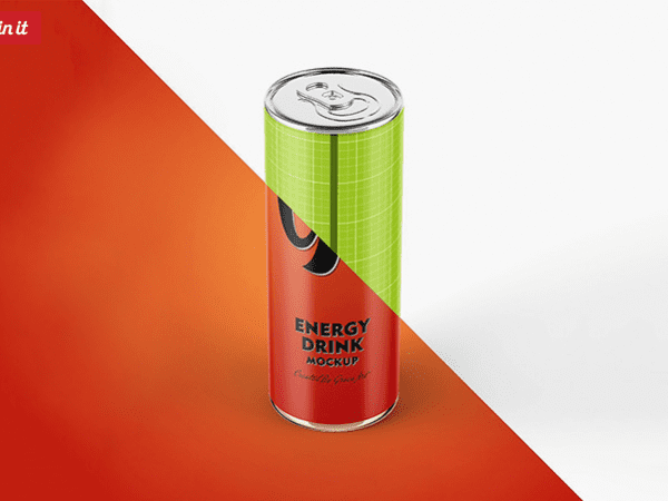 Free Energy Drink MockUp PSD Template