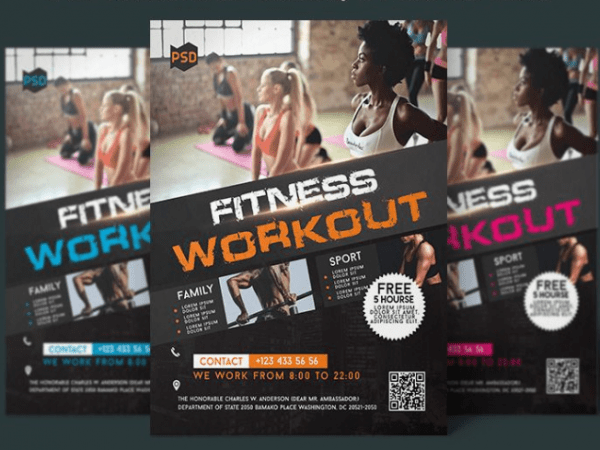 Free Fitness Flyer Template