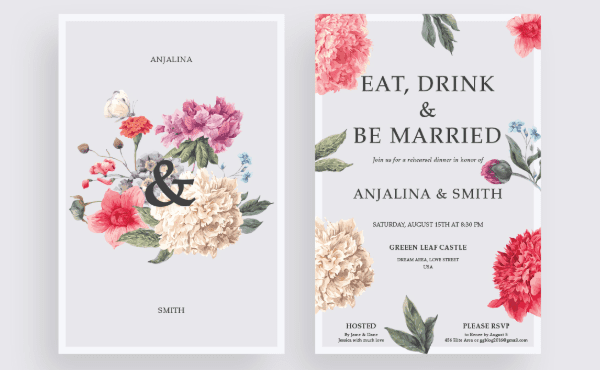 Free Modern Wedding Invitations