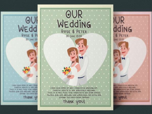 Free Wedding Flyer PSD Template
