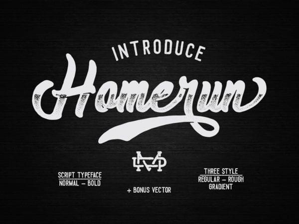 Homerun Free Unique Script Typeface