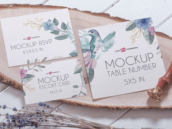 Invitation Card MockUp PSD Template