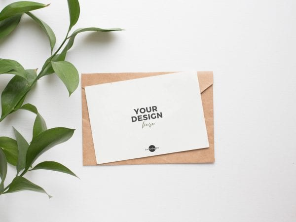 Invitation Card PSD MockUp Template