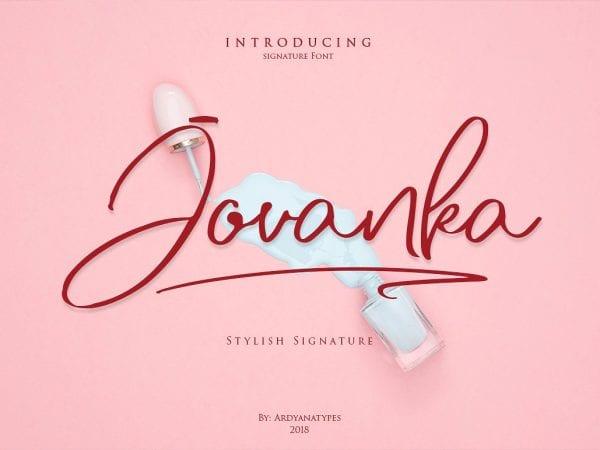 Jovanka Handwritten Script Font