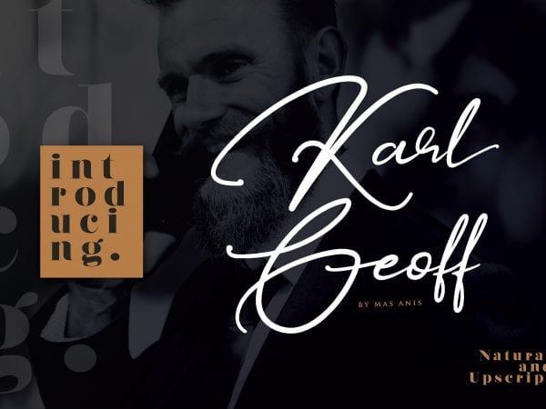 Karl Geoff Handwritten Script Font