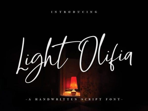 Light Olifia Free Handwritten Script Font