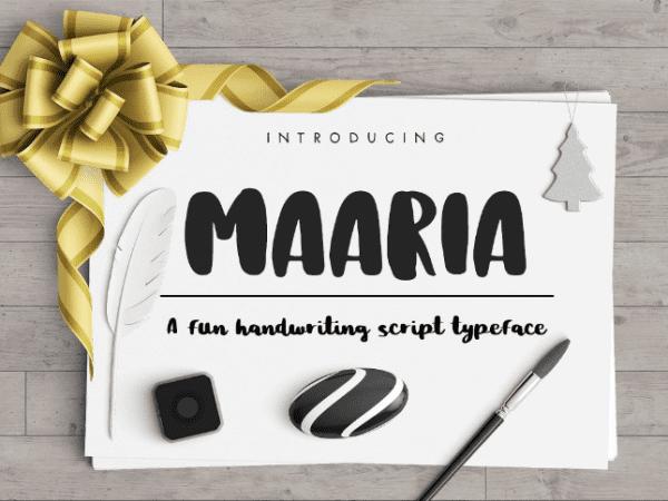 Maaria Handwritten Script Font