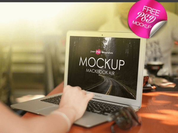 MacBook Air MockUp PSD Template